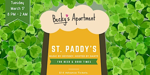 Spend St Patrick's Day with Becky (Guaranteed Entry until 10 PM)