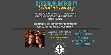 Restoring Integrity to Prophetic Ministry tickets