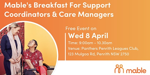 Mable's Breakfast for Support Coordinators & Care Managers - Penrith