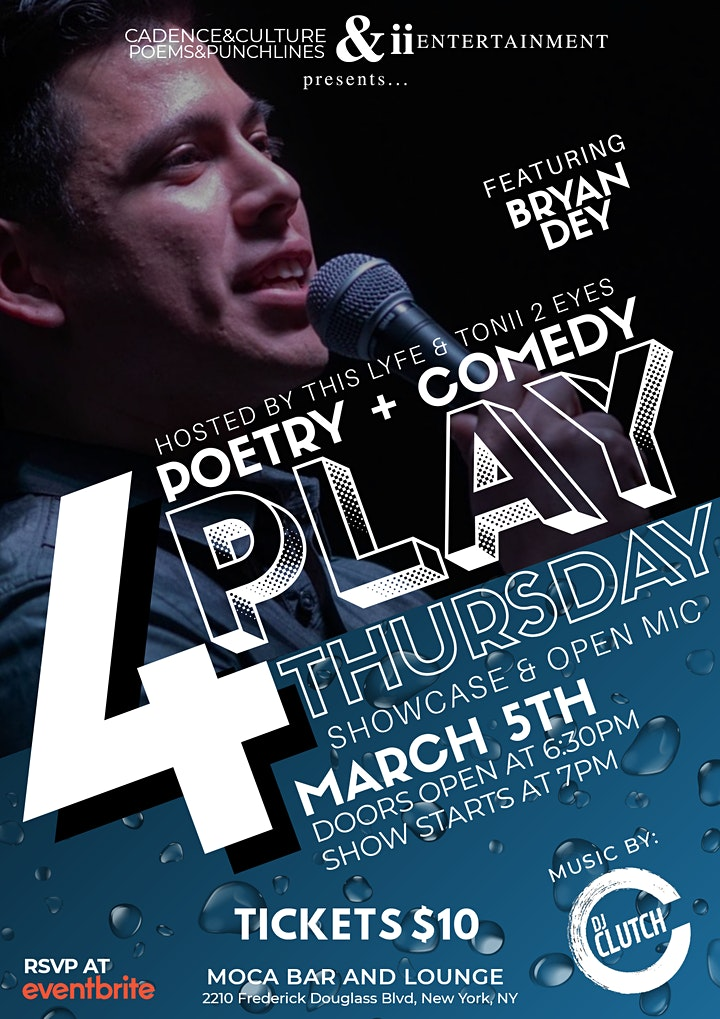 4PLAY THURSDAY SHOWCASE & OPEN MIC image