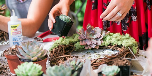 Succulent Spring Wreath Workshop