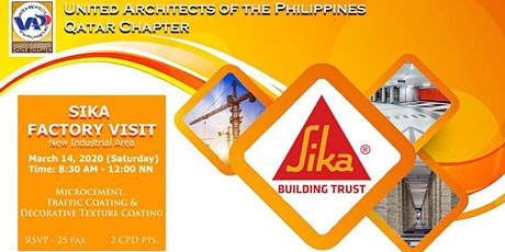 SIKA Factory Visit tickets