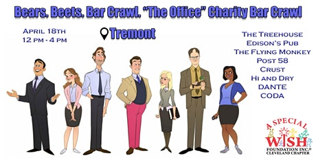"Bears. Beets. Bar Crawl.""The Office"" Charity Bar Crawl in Tremont  tickets"