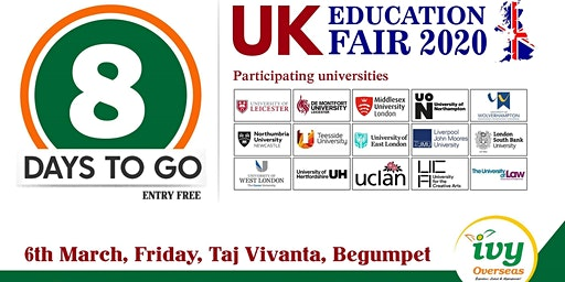 FREE REGISTRATION for UK Educational Fair - 2020  (NO IELTS REQUIREMENT)