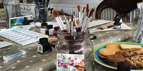 Mother's Day Floral Card workshop with ceramic keepsake tickets