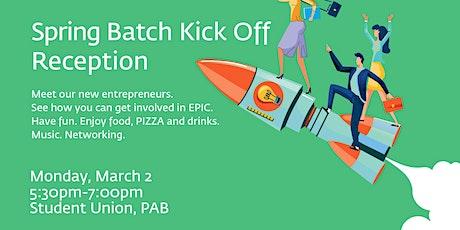 EPIC Spring Batch Kick-off Reception tickets