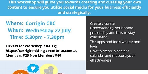 Creating Content and Business After Hours - Corrigin