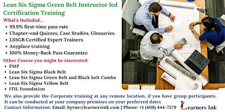 Lean Six Sigma Green Belt Certification Training Course (LSSGB) in Waterbury tickets
