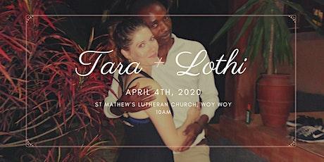 Tara & Lothi Wedding tickets