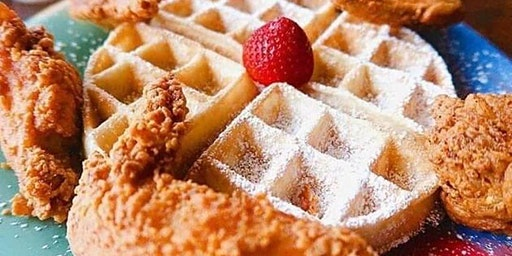 SUNDAY FUNDAY MIDTOWN DAY PARTY BRUNCH - WAFFLES & CRAB CAKE BURGERS