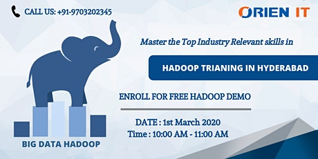 Attend our On Hadoop Demo On 1st mar 2020, Sun @ 10 AM in Hyd tickets