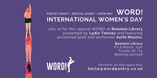 WORD! International Women's Day Special - Beeston Library