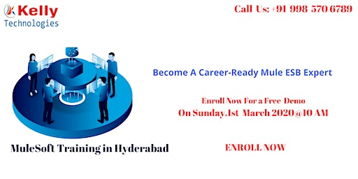 Mulesoft Training, On Sunday 1st March @10 AM At Kelly Technologies in hyd