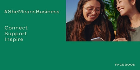 She Means Business Facebook LIVE: Tell your business story on Instagram tickets