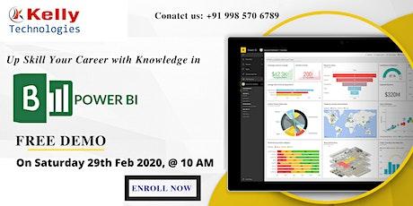 Free Demo on Power BI Training in Hyd scheduled on 29th Feb 2020, @ 10 AM tickets