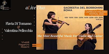 """""""The Most Beautiful Music for Violin & Guitar"""" biglietti"""