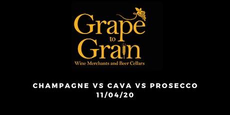 Champagne vs Cava vs Prosecco (Grape to Grain Prestwich) tickets