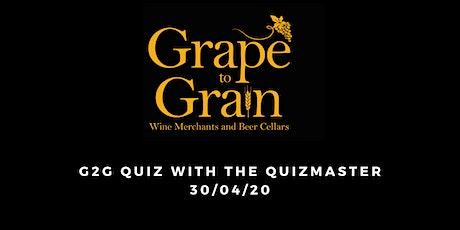 G2G Quiz with The Quizmaster (Grape to Grain Prestwich) tickets