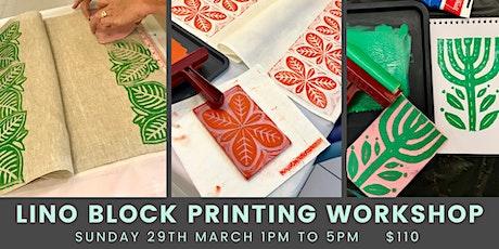 Lino Block Printing Workshop tickets