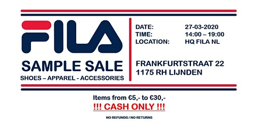 Fila Sample Sale