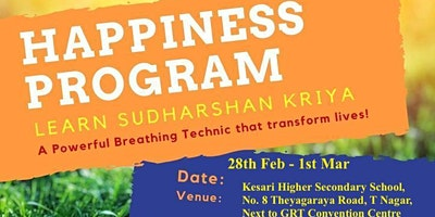 Happiness Program - a much needed vacation for your mind and body