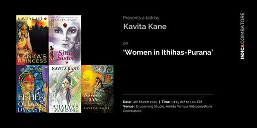 "Talk on ""Women in ithihasa-Purana"" by Kavita Kane"