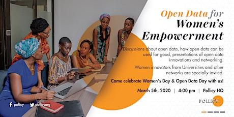OPEN DATA FOR WOMEN'S EMPOWERMENT tickets