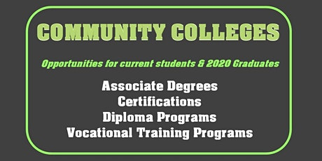 Virtual Career Event- Community College Students & 2020 Graduates tickets