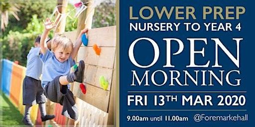 Lower Prep Nursery to Year 4 Open Morning