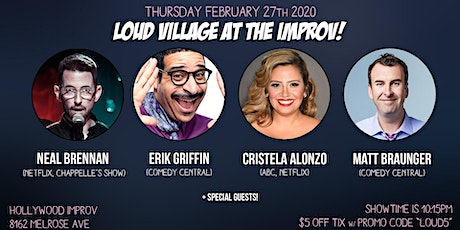 FREE COMEDY TIX: Neal Brennan, Erik Griffin + more at the Improv! tickets