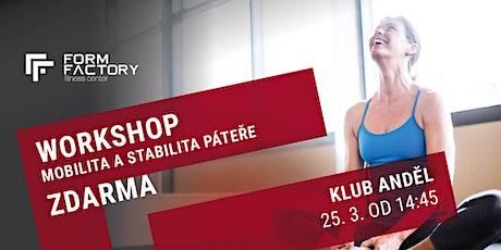 Workshop Mobilita a stabilita páteře tickets