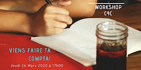 Workshop du 26 Mars 2020 chez C4C, Ecole des métiers de la Gestion billets
