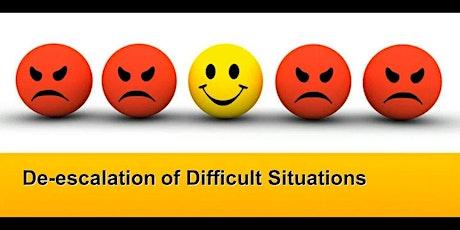 Verbal De-Escalation & Personal Safety Strategies tickets