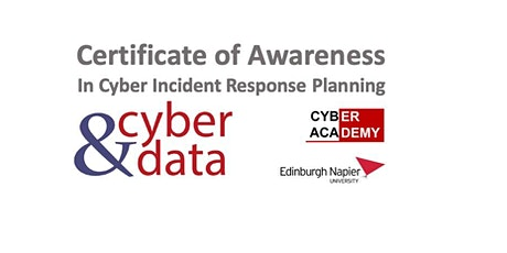 Certificate of Awareness in Cyber Incident Response tickets