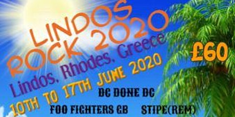 Lindos Rock Festival, Rhodes, Greece. 16th to 23rd June 202`1 tickets