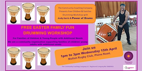 Free Fun Drumming Workshop for Families with Andy  Harris Power of Drums tickets