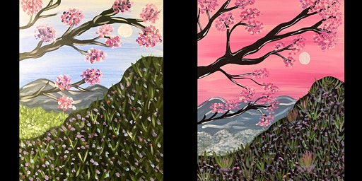 """Adult Open Paint (18yrs+) """"Mountain Blossoms"""" Select your own colors"""