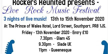 Live Rock Music Festival - Southport - 13th to 15th November 2020 tickets