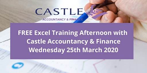 FREE Excel Training Afternoon with Castle Accountancy & Finance