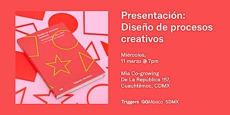 Presentación Libro: Diseño de Procesos Creativos boletos