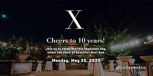 10 year anniversary party - codecentric Serbia (intern)