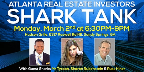 Shark Tank for Atlanta Real Estate Investors with Mr Tycoon, Sharon Rubenstein & Russ Hiner tickets