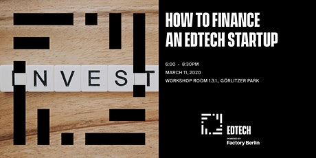 How to finance an EdTech Startup tickets