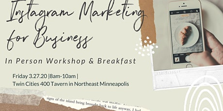 Instagram Marketing For Business Workshop & Breakfast with TCC 2020-Add On tickets