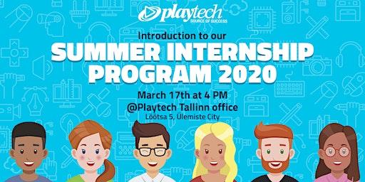 Internship Meet Up @ Playtech Tallinn