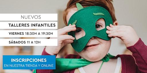 Talleres Infantiles RUBIO - Manualidades, máscaras y mucho más. 1h.