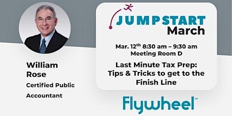 Jumpstart March: Last Minute Tax Prep tickets
