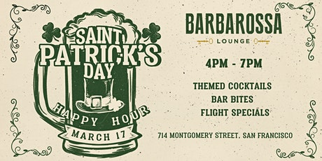 St. Patrick's Day Happy Hour at Barbarossa Lounge tickets