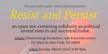 Resist and Persist Open Mic tickets