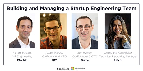Building and Managing a Startup Engineering Team  tickets